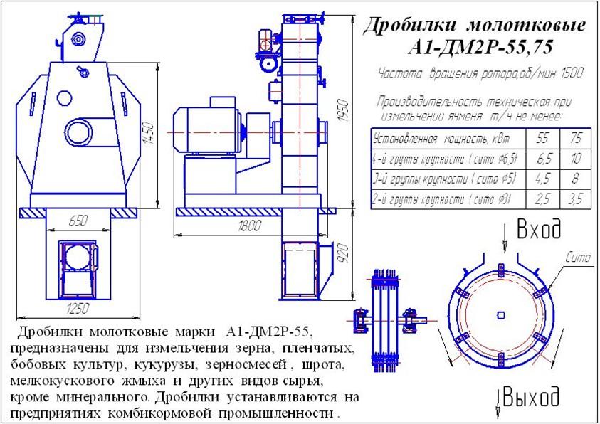 Дробилка a1-дм2р-110м скруббер вентури в Усолье-Сибирское