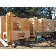 Дом деревянный 9х10м высота 3м с открытой верандой 3-х комнатнгый фото
