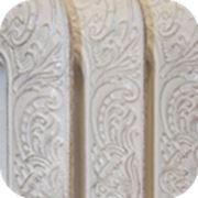 Чугунный радиатор ретро покрашен в белый цвет фото