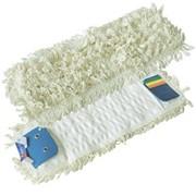 Тряпка для швабры из хлопка, влажная уборка Cotton Flat Wetmop 40cm White Double System фото