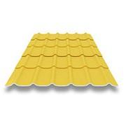 Металлочерепица Монтеррей желтый RAL 1018 фото