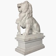 Скульптура Лев сидящий (малый) S87 фото