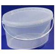 Тара из полипропилена для пищевых продуктов - Ведро полипропиленовое овальное 59л фото