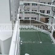 Композитный решетчатый настил открытая ячейка, высота 33 мм, ячейка 38х38 мм, ширина 1220 мм, длина 3660 мм, вес 16,5 кг фото