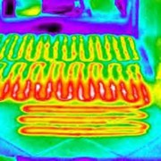 Определение схемы теплых полов тепловизором фото