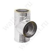 Дымоходы ROSINOX Тройник 130/90° (кислотостойкая/0,5/ВА) ТЕРМО/25 фото