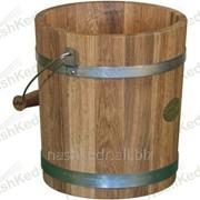 Ведро дубовое 10 л (нерж. сталь) фото