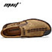 Туфли мужские лоферы MVVT хаки,шнурок фото