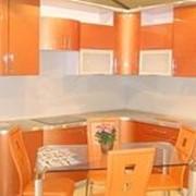 Кухня оранжевая фото