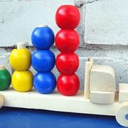 Конструктор деревянный Автомобиль с шарами 524118 260х110х180 фото