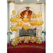 Свадебное украшение шарами фото