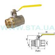 Кран для газа латунный шаровый SD Ду20мм ВН ручка фото