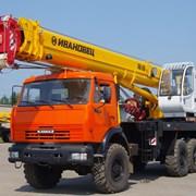 Аренда и услуги автокрана 25 тонн в Новосибирске фото