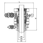 Оборудование обвязки обсадных колонн ОКК2 для подвешивания обсадных колонн 426(16.3/4'') 324 (12.3/4'') 245(9.5/8'') 178(7'') 168 (6.5/8'') 146 (5.3/4'') 140(5.1/2'') и разобщения меж-колонных пространств фото