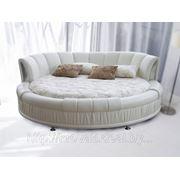 Кровать круглая С1123 жемчужная фото