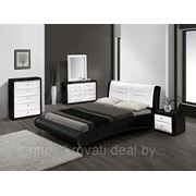 Кровать Gitzo Invert 2 (180х200) Matt PU - белая спинка фото