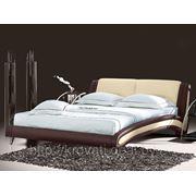 Кровать Beatriche А1055 КОМБИ (ЧЕРНЫЙ С БЕЛЫМ) (160х200) с основанием фото