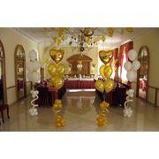 Украшение воздушными шарами свадеб Вишневое фото