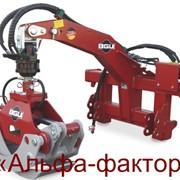 Грейферный гидравлический захват и манипулятор для леса фото