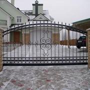 Ворота откатные 8 фото
