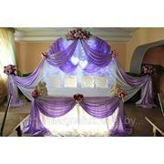 Украшение залов на свадьбу, оформление столов президиума фото