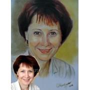 Портрет масло сухая кисть. фото