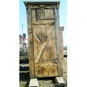 Туалет деревянный для стройки фото