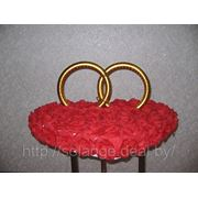 Кольца на машину Сердце в розах» фото