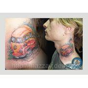 Нанесение татуировки фото