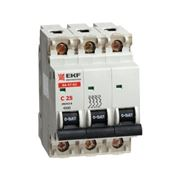 Автоматические выключатели ВА 47-63,3P 20А (EKF)