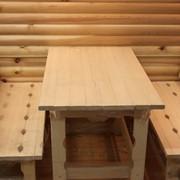 Комплект мебели из осины