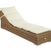 Лежак Antibes с подушкой, натуральный, 660х2010х690 мм, Maurizi s.n.c., Antibes фото