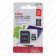 MicroSDHC Disk Ultra 16 гигабайт - фото