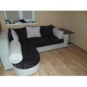 Перетяжка углового дивана фото