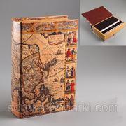 """Книга-сейф """"Карты мира"""" 5 видов (5 фото) подарок мужчине фото"""