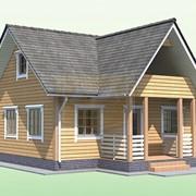Проект дачного дома 6Х8 М с балконом фото