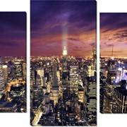 Модульная картина Нью Йорк ночь , Неизвестен фото