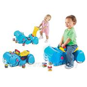 "Ходунки ""Бегемот с кубиками"" Fisher - Price фото"