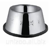 Миска для кошек сталь нержавеющая с тиснением 16 см 220 мл фото