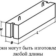 Блоки фундаментные стеновые фото