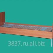 Кровать армейская металлическая бытовая, с деревянными спинками, К.М.А.-Д. фото