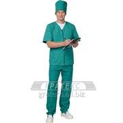 Костюм Мод №404 хирурга, универсальный на молнии, зеленый фото