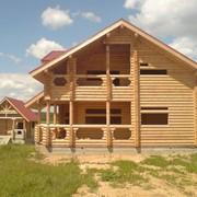 Дома срубы деревянные из оцилидрованного бревна фото