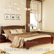Кровать двуспальная Венеция Люкс из натурального дерева фото