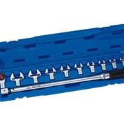 Динамометрический ключ с набором рожковых насадок фото