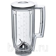 Чаша (емкость) блендера для кухонного комбайна Bosch MUZ5MX1 1250ml 572477 (аксессуар). Оригинал фото