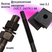 Болты фундаментные с анкерной плитой тип 2.1 м42х500 (шпилька 3) Ст3 ГОСТ 24379.1-80 (масса шпильки 5.44 кг) фото