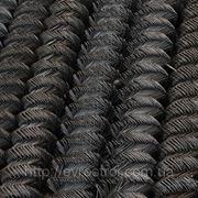 Рабица черная комп. рул. Ф2,0 ячейка 65 мм фото
