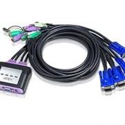 KVM-переключатель Aten CS64A 4-х портовый кабельный