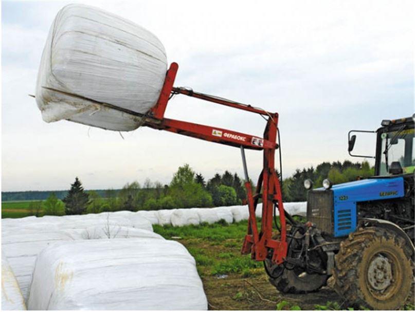 Отвал из трубы для трактора